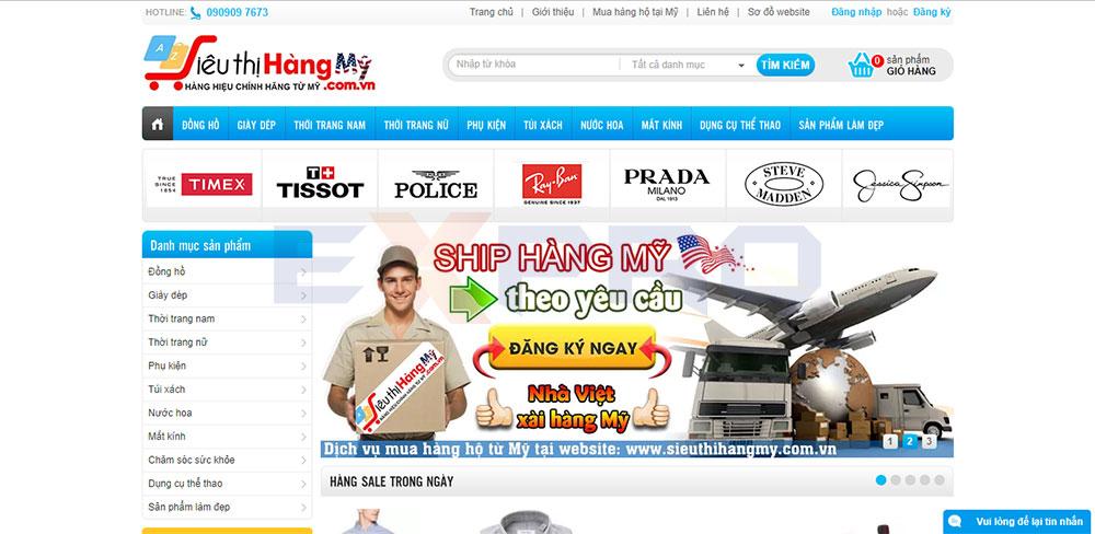 Thiết kế web bán hàng order xách tay từ Mỹ