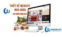 Thiết kế web nhà hàng chuyên nghiệp
