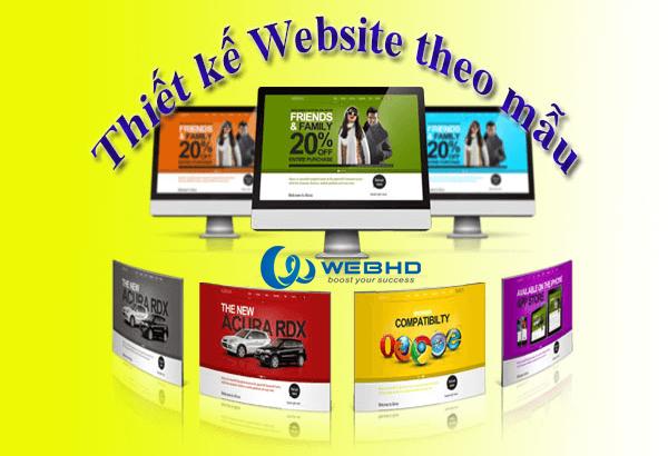 Thiết kế web theo mẫu chuyên nghiệp chuẩn SEO