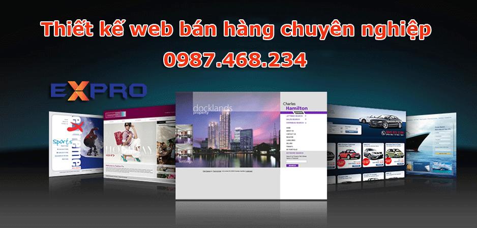 Thiết kế web bán hàng online chuyên nghiệp