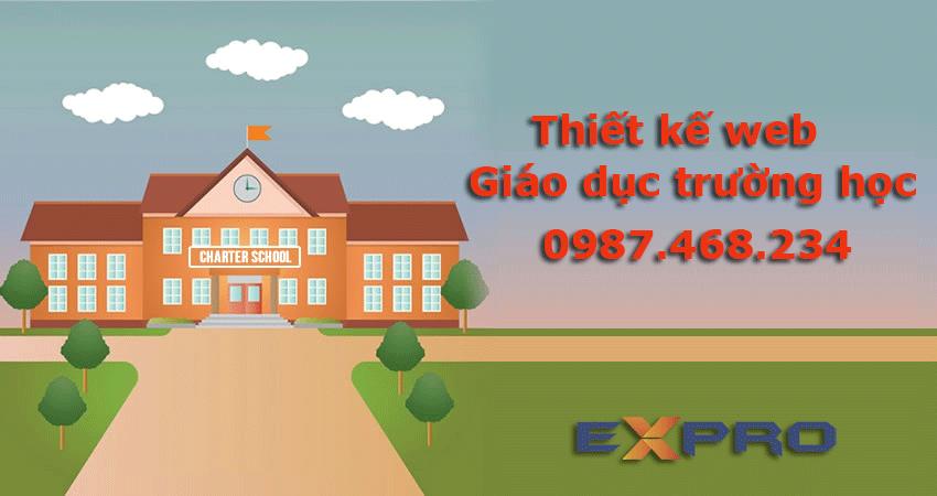 Thiết kế web giáo dục, trường học chuẩn SEO Top Google