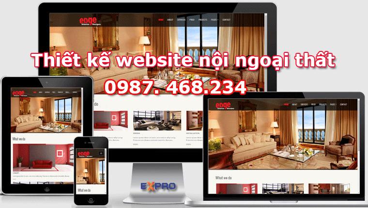 Thiết kế web nội thất, ngoại thất đẹp chuẩn SEO dễ lên top Google