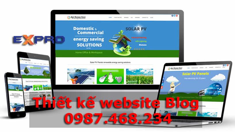 Thiết kế website blog, cá nhân
