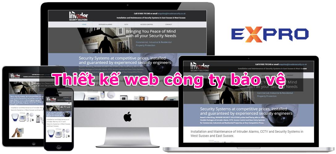 Thiết kế website công ty bảo vệ - Mẫu website bảo vệ đẹp