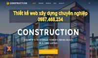 Thiết kế web công ty xây dựng chuyên nghiệp