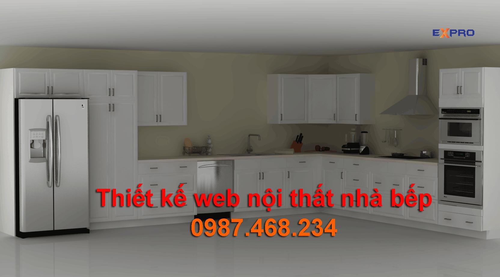 Thiết kế web nội thất nhà bếp chuyên nghiệp
