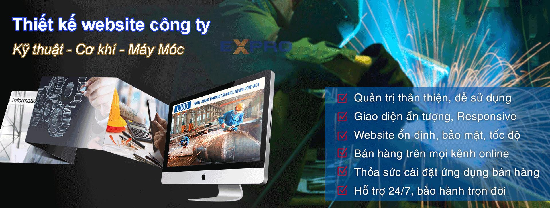 Thiết kế website kỹ thuật, bán hàng công ty cơ khí, máy móc chuyên nghiệp chuẩn SEO