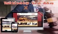 Thiết kế web luật - tòa án - dịch vụ