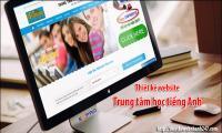 thiết kế website trung tâm học tiếng anh