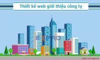 Thiết kế web giới thiệu công ty doanh nghiệp