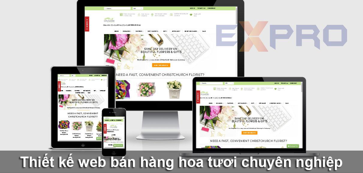 Thiết kế website bán hàng hoa tươi đẹp độc đáo dễ lên top Google