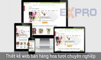 Thiết kế website bán hàng hoa tươi đẹp
