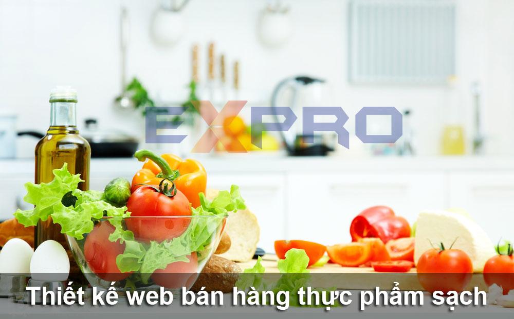 Thiết kế web bán thực phẩm sạch