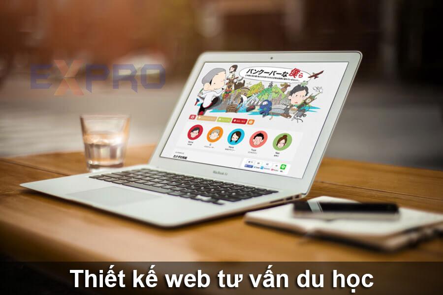 Thiết kế web tư vấn du học chuyên nghiệp