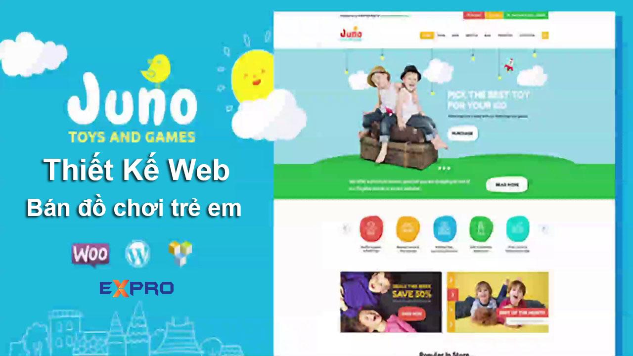 Thiết kế web bán đồ chơi trẻ em chuyên nghiệp
