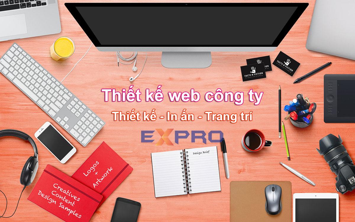 Thiết kế website công ty thiết kế, in ấn, trang trí chuyên nghiệp