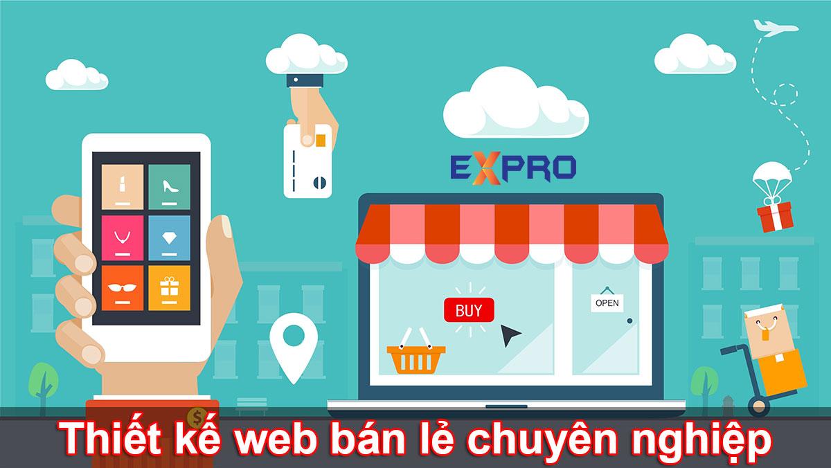 Thiết kế web bán lẻ chuyên nghiệp