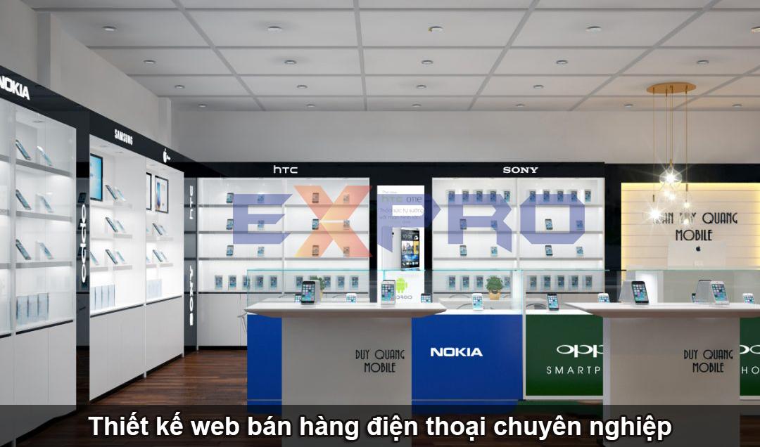 thiết kế web bán hàng điện thoại di động