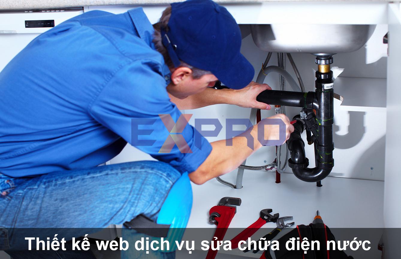 Thiết kế web công ty dịch vụ lắp đặt, sửa chữa điện nước