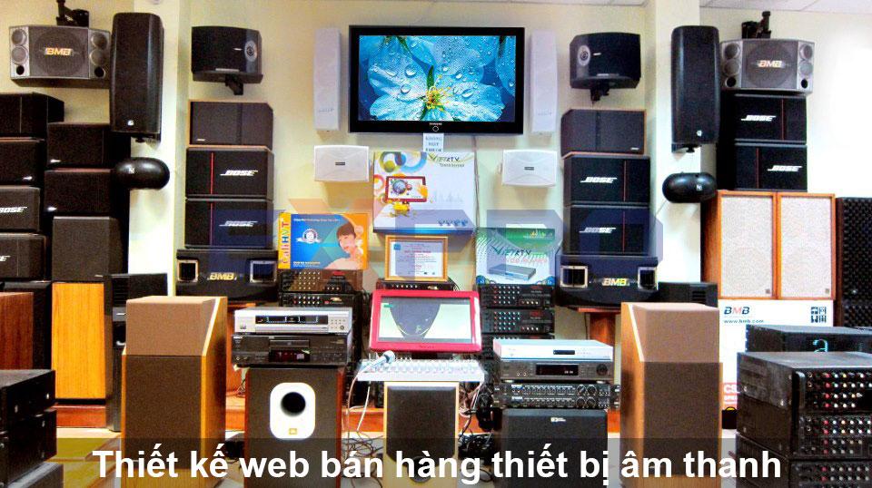 Thiết kế web thiết bị âm thanh chuyên nghiệp