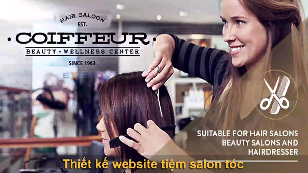 Thiết kế web Salon tóc chuyên nghiệp chuẩn SEO Google