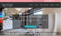 Thiết kế website tiệm nails, dịch vụ làm móng