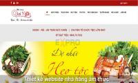 Thiết kế web nhà hàng ẩm thực  chuyên nghiệp