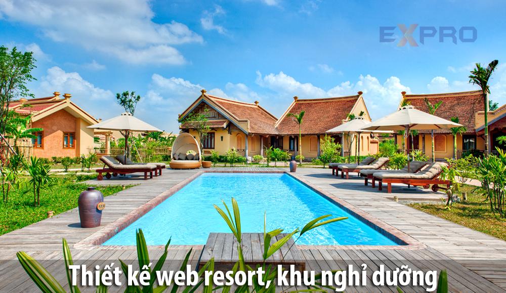 Thiết kế web Resort, khu nghỉ dưỡng