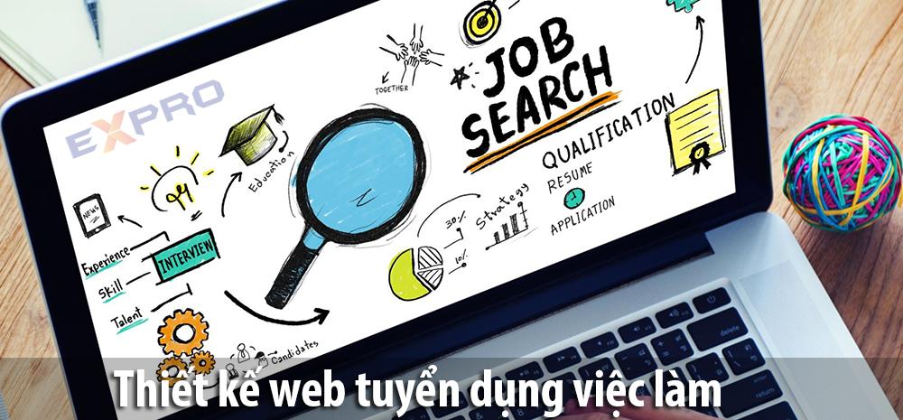 Thiết kế web tuyển dụng việc làm