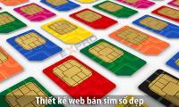 Thiết kế web bán sim số đẹp, thẻ điện thoại