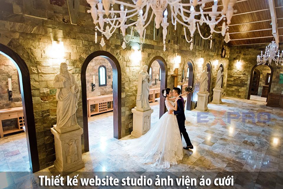Thiết kế web studio, ảnh viện áo cưới đẹp độc đáo
