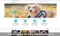 Thiết kế web bán thú cưng