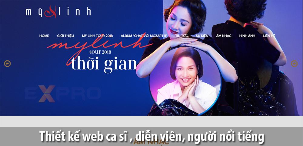 Thiết kế web ca sĩ,nhạc sĩ, diễn viên, người nổi tiếng chuyên nghiệp