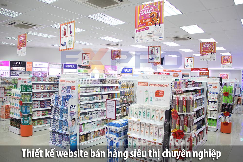 Thiết kế web bán hàng siêu thị chuyên nghiệp