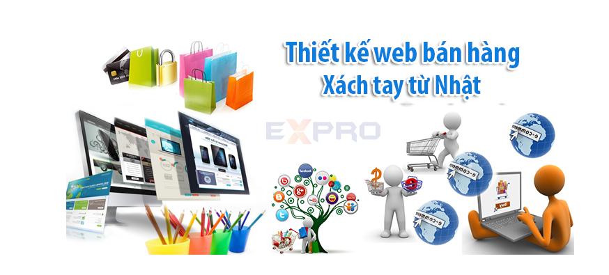 Thiết kế web bán hàng xách tay từ Nhật uy tín, chuyên nghiệp
