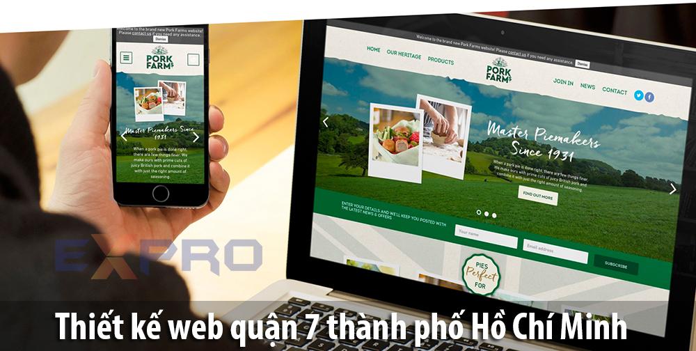 Thiết kế website tại Quận 7 TPHCM chất lượng giá rẻ