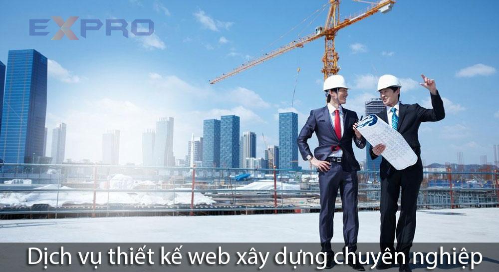 Thiết kế web công ty xây dựng chuyên nghiệp chuẩn SEO