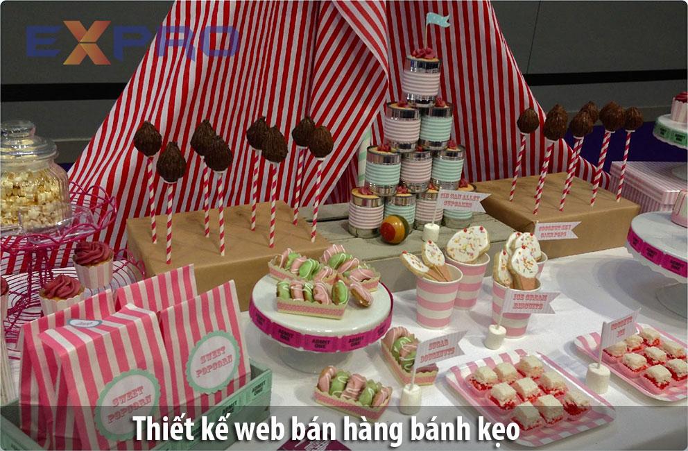 Thiết kế web bán bánh kẹo chuyên nghiệp, dễ lên Top google