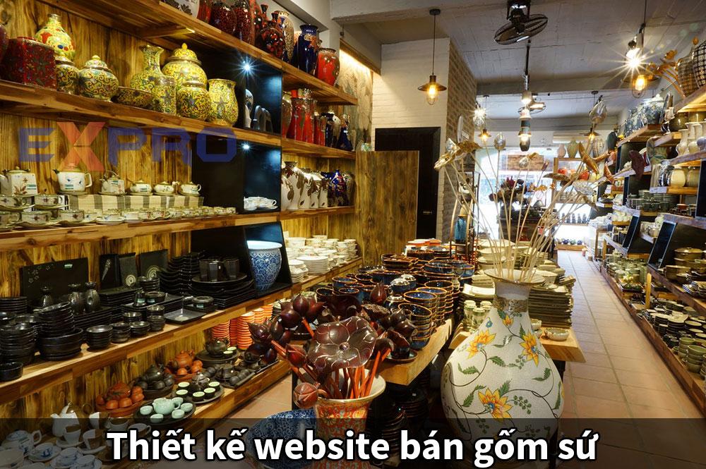 Thiết kế web gốm sứ chuẩn SEO
