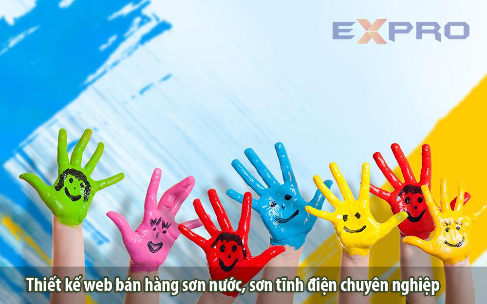Thiết kế web bán hàng sơn nước sơn tĩnh điện chuyên nghiệp