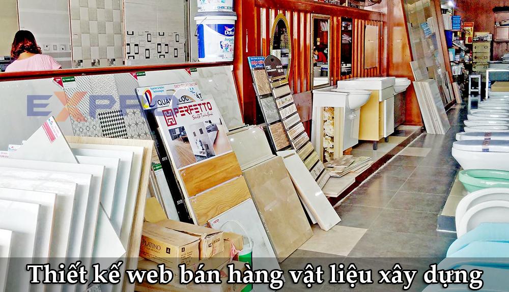 Thiết kế web bán hàng kinh doanh vật liệu xây dựng