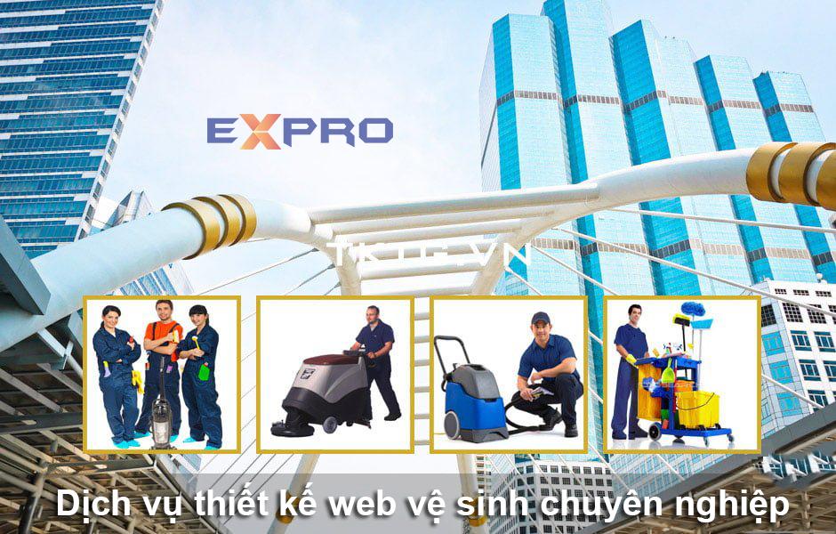 thiết kế web dịch vụ vệ sinh