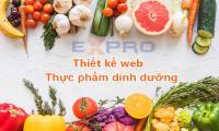 Thiết kế web thực phẩm dinh dưỡng giá rẻ
