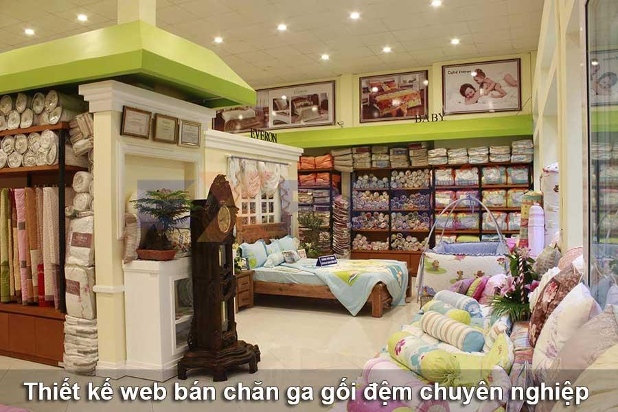 Thiết kế web bán hàng chăn ga gối đệm