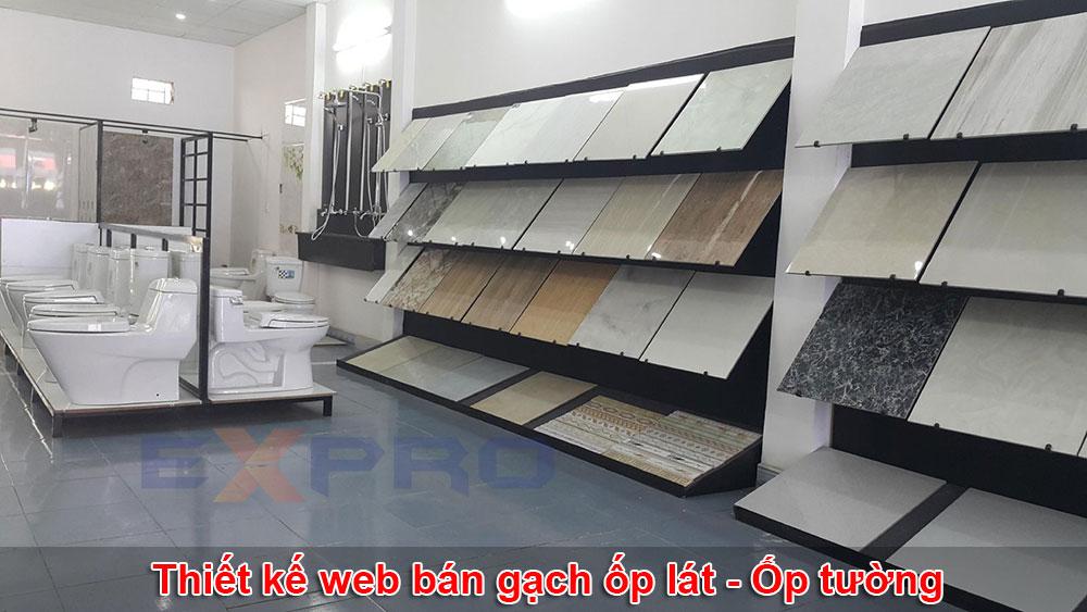 Thiết kế web bán gạch ốp lát, ốp tường