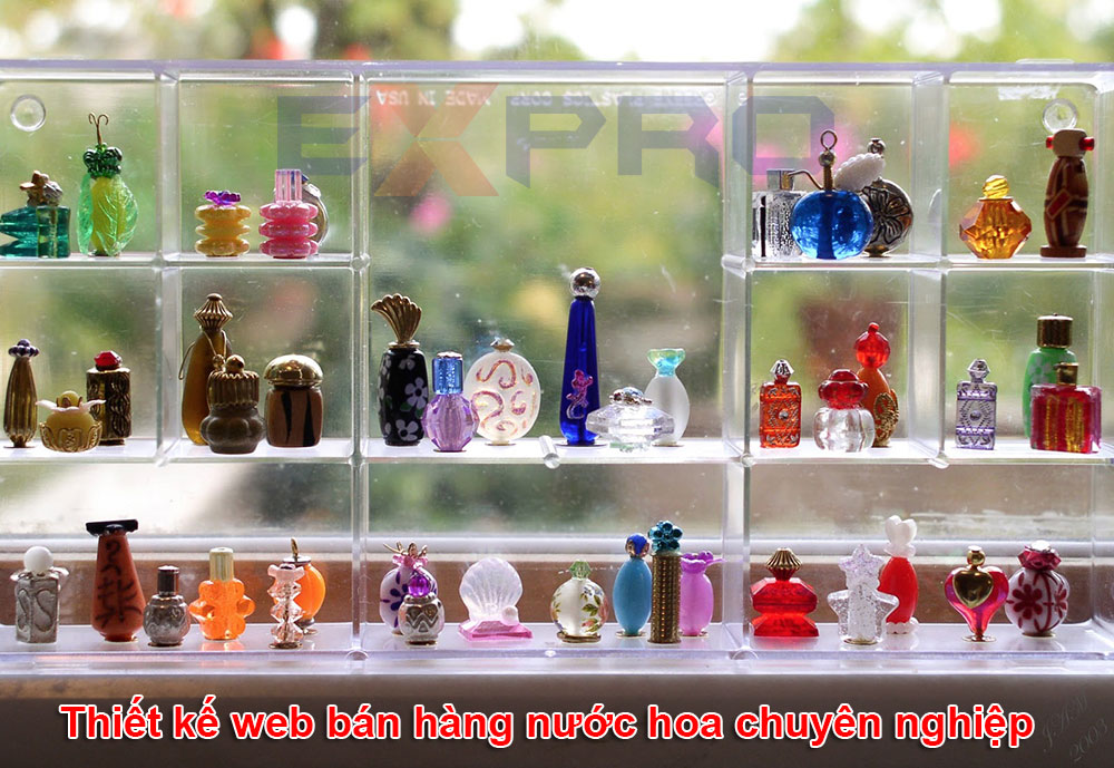 Thiết kế web bán hàng nước hoa