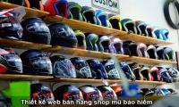 Thiết kế web shop bán mũ bảo hiểm