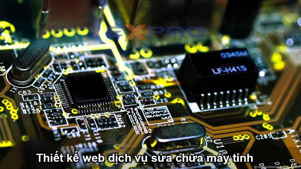 Thiết kế web cửa hàng dịch vụ sửa chữa máy tính