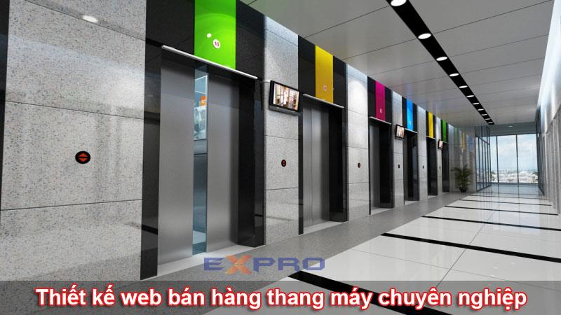 Thiết kế web công ty cung cấp bán hàng thang máy chuyên nghiệp