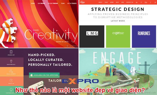 Như thế nào là một website đẹp về giao diện?